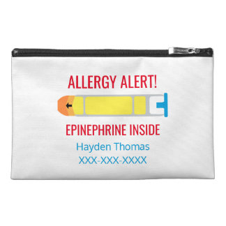 Personalized Epinephrine Medication Allergy Alert Travel Accessory Bags