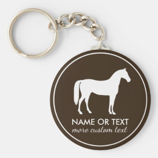 Personalized Equestrian Horseback Riding Name Basic Round Button Keychain