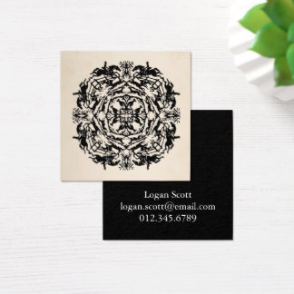 Personalized Equestrian Kaleidoscope Square Business Card