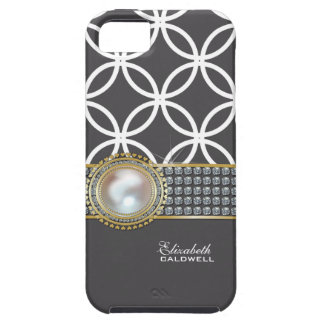 Personalized Eternity Circles iPhone 5 Case-grey iPhone 5 Cover