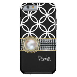 Personalized Eternity Circles iPhone 6 case -black Tough iPhone 6 Case