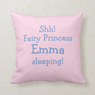 Personalized Fairy Throw Pillow