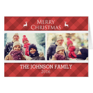 Personalized Family Christmas Photo Card