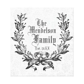 Personalized family established canvas print