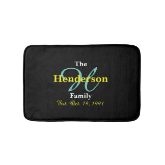 Personalized Family Established - Name & Ini Bath Mat