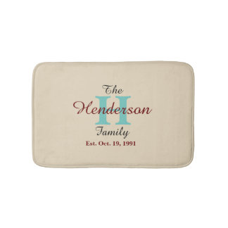 Personalized Family Established - Name & Initial - Bath Mat