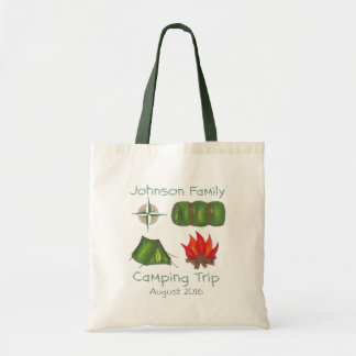 Personalized Family Hike Camp Camping Trip Tote