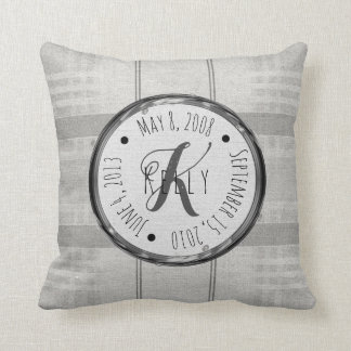 Personalized Family Name & Date Pillow