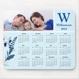 Personalized Family Photo 2018 Calendar Mouse Pad