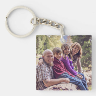 Personalized Family Photo Key Chain