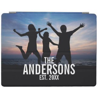 Personalized Family Photo with Family Name iPad Cover