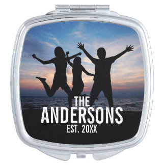 Personalized Family Photo with Family Name Vanity Mirrors