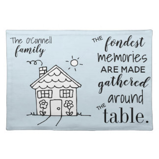 Personalized Family Placemat