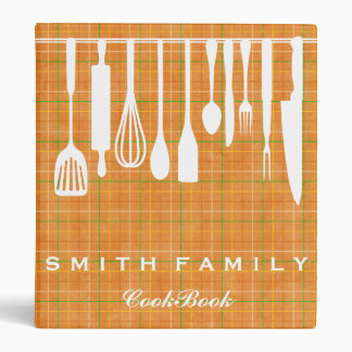 Personalized Family Recipe Cookbook 3 Ring Binders