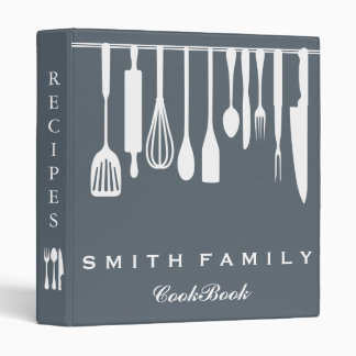 Personalized Family Recipe Cookbook Binders