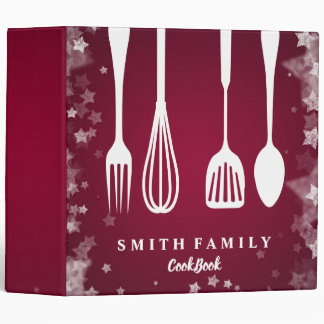 Personalized Family Recipe Cookbook Vinyl Binder