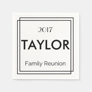 Personalized Family Reunion Napkins Paper Napkins