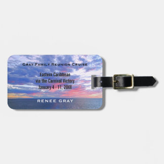 Personalized Family Reunion Vacation Cruise Luggage Tag