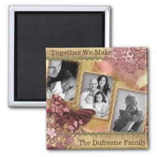 Personalized Family w/Three Photos Magnet