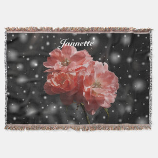 Personalized Fantasy Rose Throw