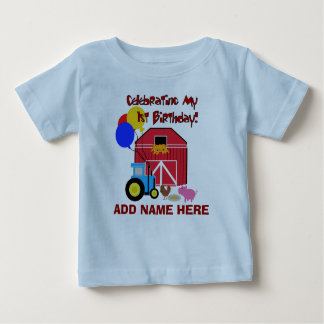 Personalized Farm First Birthday Tshirt