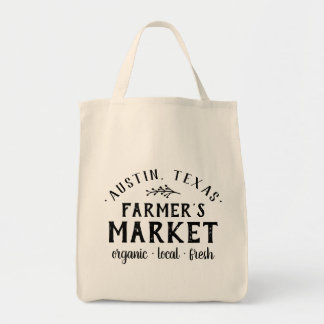 Personalized Farmer's Market Grocery Tote Bag