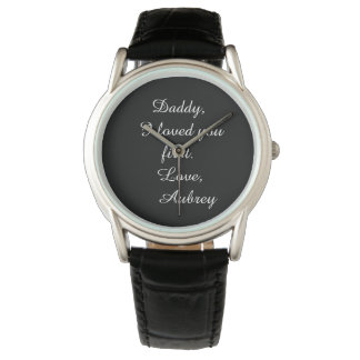 "Personalized ""Father of the Bride"" Leather Watch"