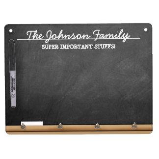 Personalized Faux-Chalkboard Dry Erase Whiteboard