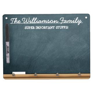 Personalized Faux-Chalkboard Dry-Erase Whiteboards