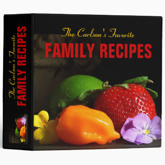 Personalized Favourite Family Recipe Binder