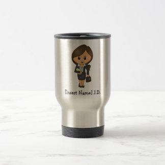 Personalized Female Lawyer - Brunette Travel Mug