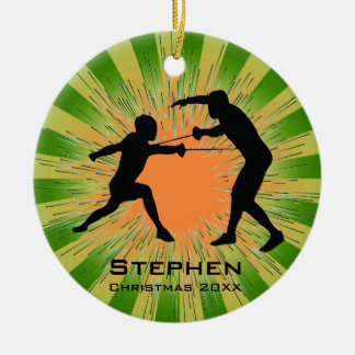 Personalized Fencing Ornament