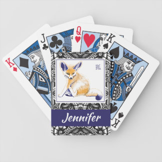 "Personalized ""Fennec Fox"" Playing Cards"