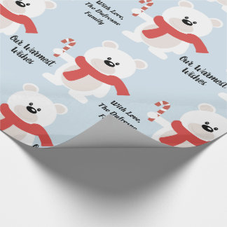 Personalized Festive Bear Wrapping Paper