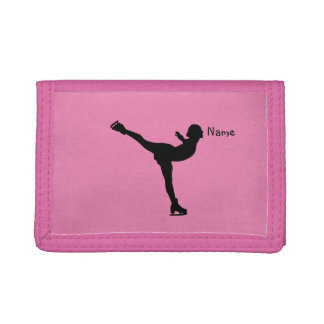 Personalized Figure Skater dancing Tri-fold Wallet