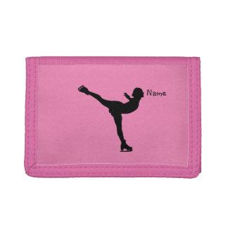 Personalized Figure Skater dancing Tri-fold Wallet