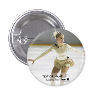 Personalized Figure Skating Custom Photo and Name 1 Inch Round Button