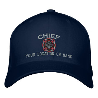 Personalized Fire Chief Custom Cap Embroidery Embroidered Hats
