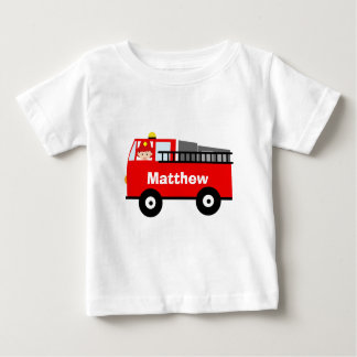 Personalized Fire Engine Toddler Shirt