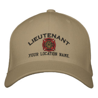 Personalized Fire Lieutenant Custom Cap Embroidery Embroidered Baseball Caps