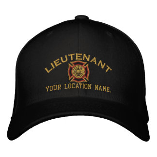 Personalized Fire Lieutenant Custom Cap Embroidery Embroidered Hat