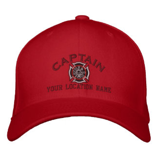 Personalized Firefighter Captain Cap Embroidery Embroidered Baseball Cap