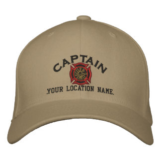 Personalized Firefighter Captain Cap Embroidery Embroidered Baseball Caps