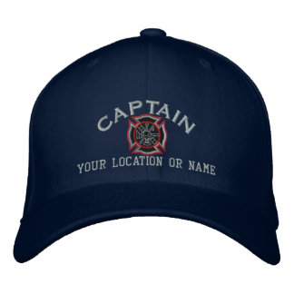 Personalized Firefighter Captain Cap Embroidery Embroidered Hat