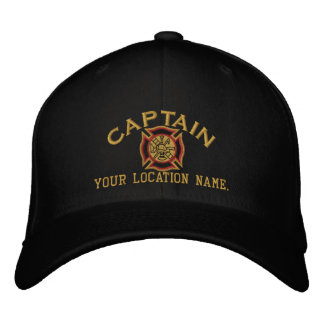 Personalized Firefighter Captain Cap Embroidery Embroidered Hats