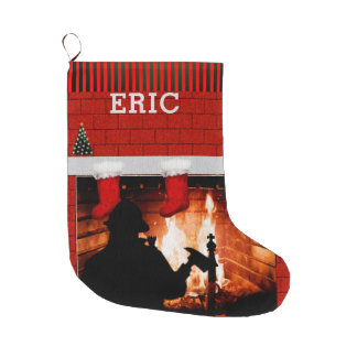 personalized firefighter collectible large christmas stocking