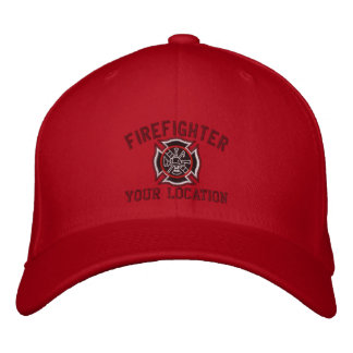 Personalized Firefighter Custom Cap Embroidery Baseball Cap