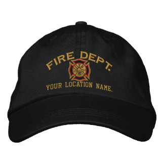 Personalized Firefighter Custom Cap Embroidery Embroidered Baseball Caps