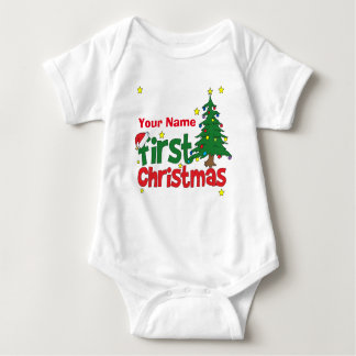 Personalized First Christmas Baby Bodysuit