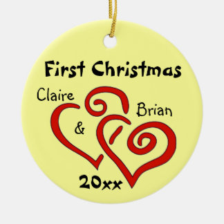Personalized First Christmas Ornament